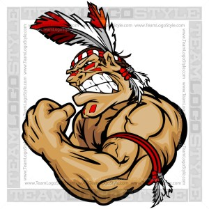 Muscular Indian Warrior Cartoon Vector Art