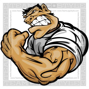 Strong Man Cartoon Vector Art