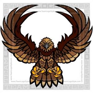 Hawk Clipart - Vector Mascot Graphic