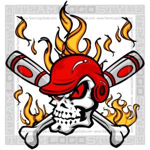 Baseball Crossbones - Skull Baseball Image