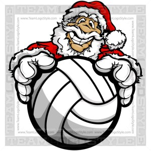 Christmas Volleyball Clipart - Santa Claus