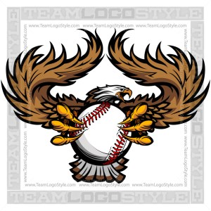 Baseball Eagle Graphic