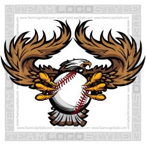 Baseball Eagle Graphic