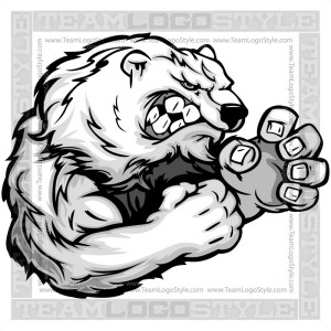 Polar Bear Wrestler Clipart