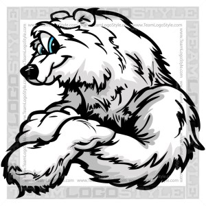 Smiling Polar Bear Cartoon - Clipart Image