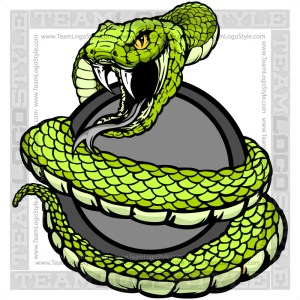 Snake Coiled Clip Art - Vector Image