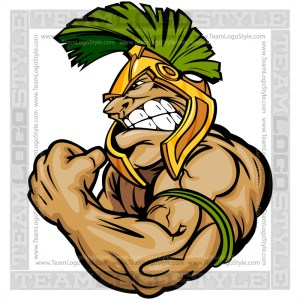 Trojan Flexing Arms Clipart