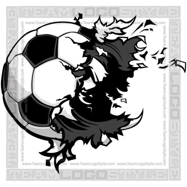 Soccer Ball Exploding Clip Art