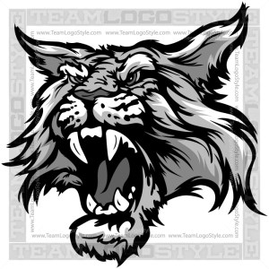 Wildcat Mascot - Clip Art Cartoon