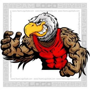 Wrestling Eagle Mascot  Clip Art Image