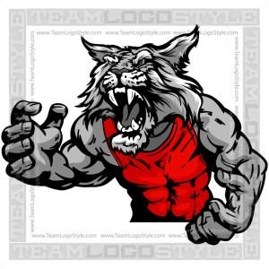 Wrestling Wildcat Clip Art