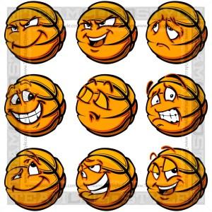 Sad Basketball Clip Art Cartoon