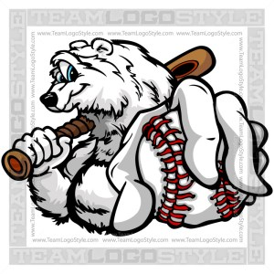 Clip Art Baseball Polar Bear
