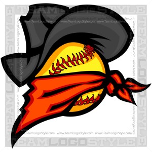 Outlaw Softball Clip Art Image