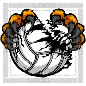 Clip Art Volleyball Leopard Claws
