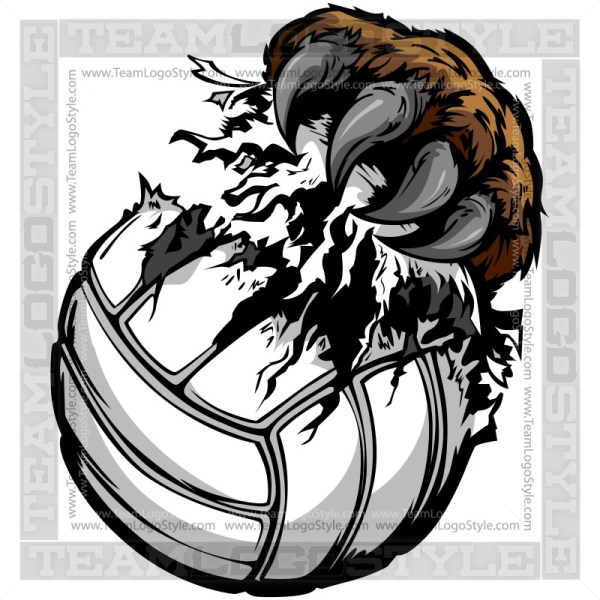 Grizzly Claw Tearing Volleyball