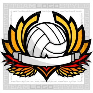 Volleyball Clip Art Graphic