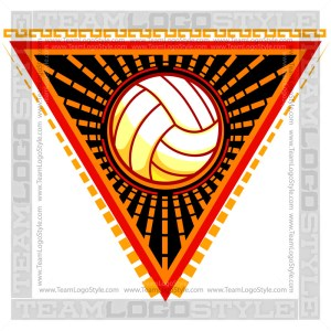 Volleyball Design Element - Vector Clipart Graphic