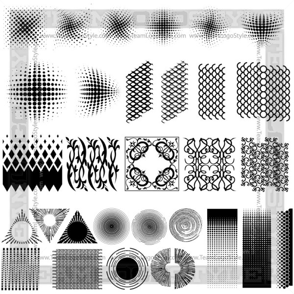 Vector Graphic Textures - T-Shirt Design Set