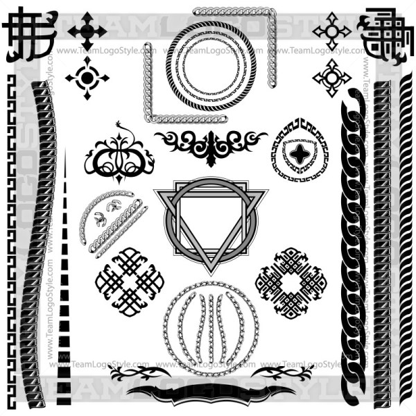 Vector Chain Clip Art - T-Shirt Design Set