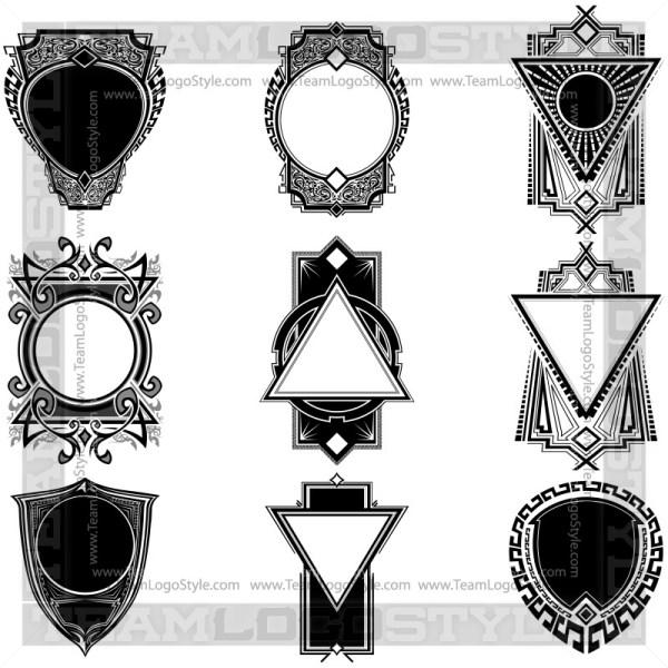 Vector Graphic Badges - T-Shirt Design Set