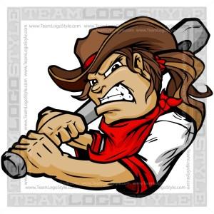 Softball Cowgirl Clip Art - Clip Art Cartoon Image