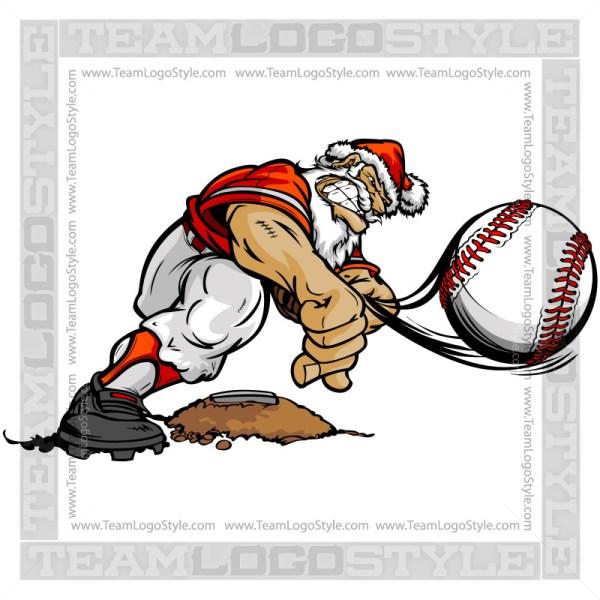 Santa Baseball Clip Art
