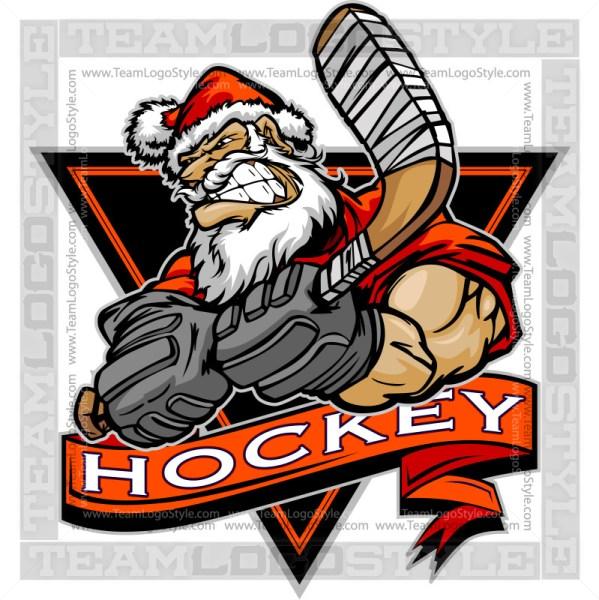 Santa Hockey Logo