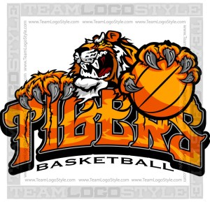 Tiger Basketball Team Logo