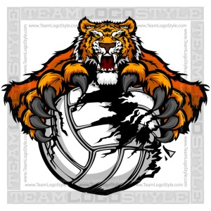 Tiger Volleyball Graphic