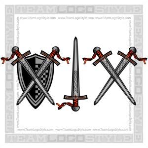 Vector Knight Sword Clip Art Image