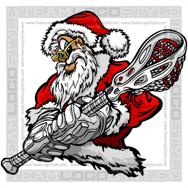 Christmas Lacrosse Clip Art - Santa Claus