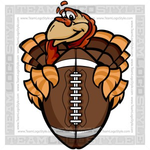 Thanksgiving Football Clipart - Turkey Cartoon