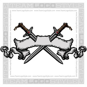 Viking Swords In Banner Clip Art