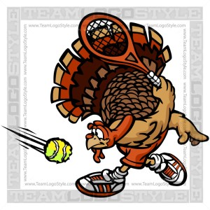 Thanksgiving Turkey Tennis Cartoon