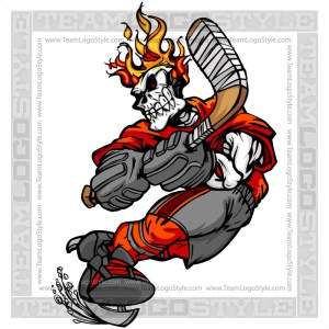 Flaming Skull Hockey