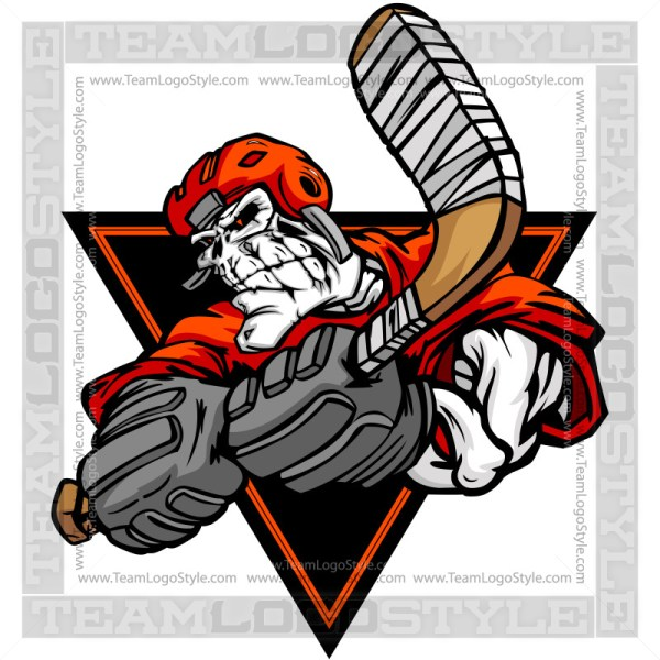 Skeleton Hockey Clip Art