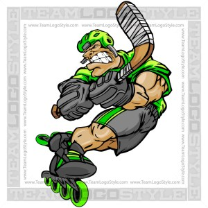 Clip Art Roller Hockey Player