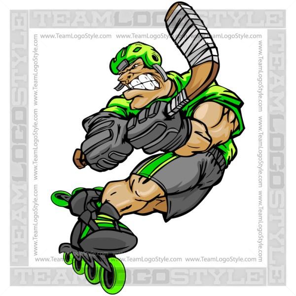 Clip Art Roller Hockey Player