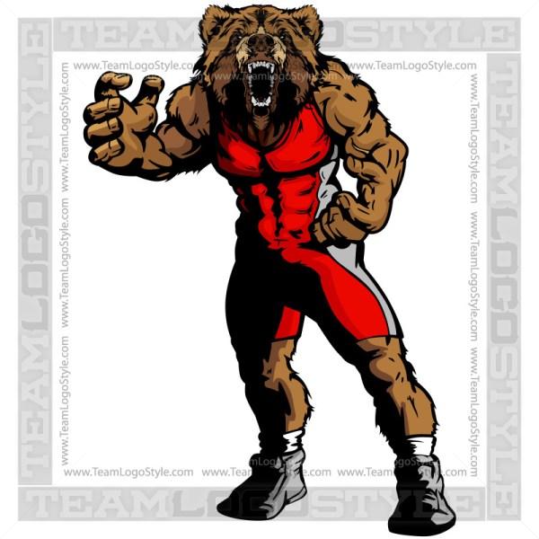 Wrestling Bear Image