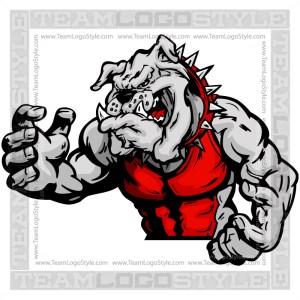 Wrestling Mascot Bulldog