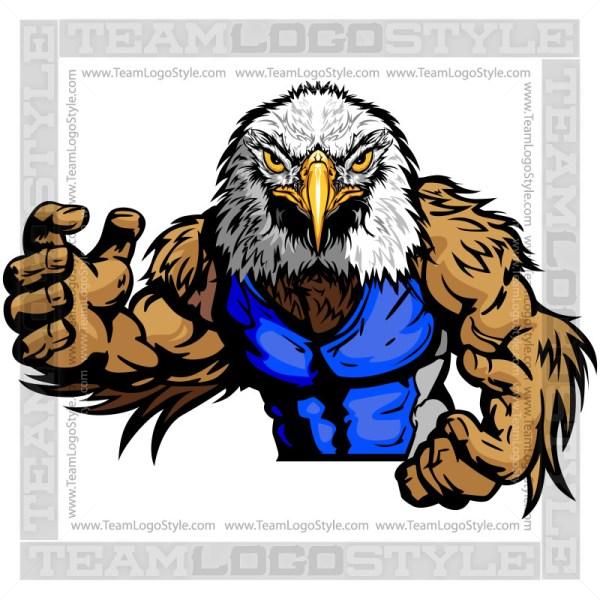 Wrestling Mascot Eagle