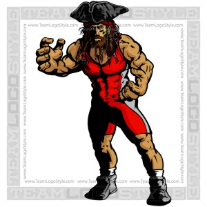 Wrestling Pirate Image
