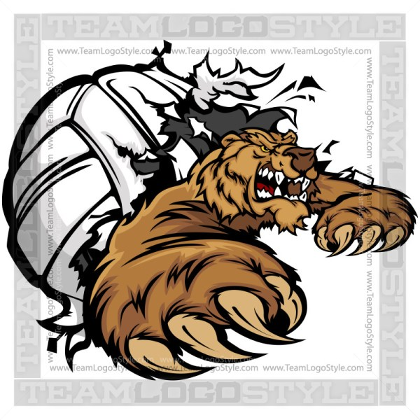 Bear Volleyball Clip Art