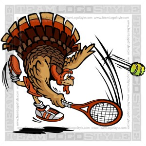Turkey Serving Tennis Ball