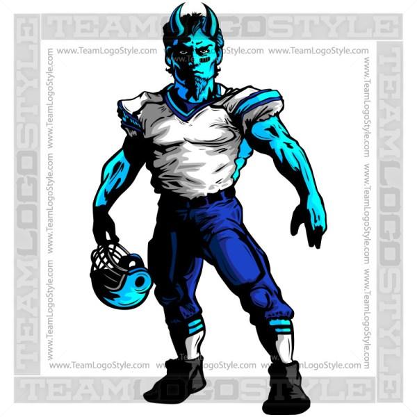 Demon Football Mascot