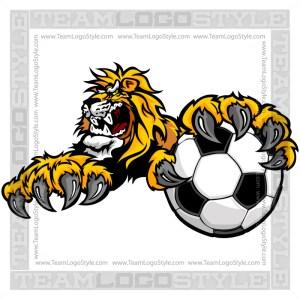 Lion Soccer Clip Art