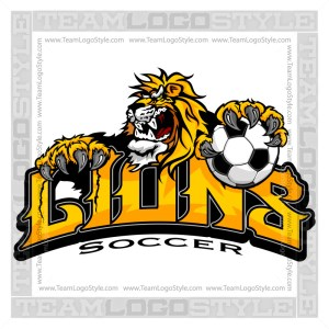 Lion Soccer Team Logo
