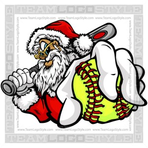 Santa Holding Softball