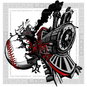 Train Busting out of Baseball